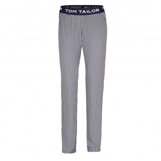 Pruhované dlouhé dámske kalhoty TOM TAILOR TOM TAILOR