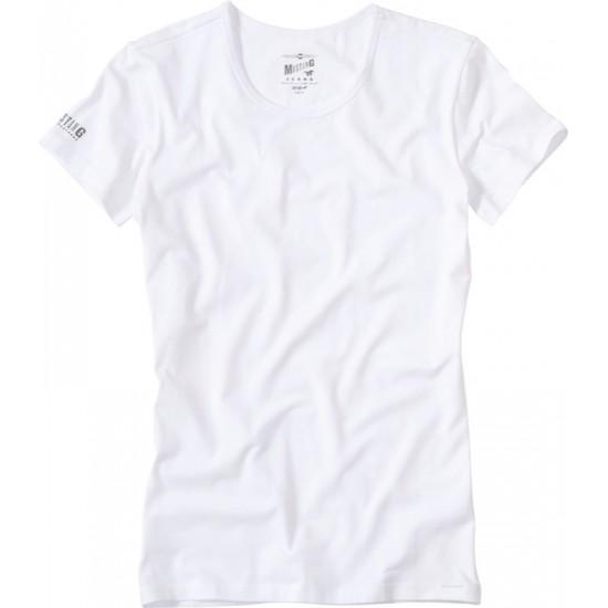 Pánské bílé tričko s krátkým rukávem Mustang MUSTANG